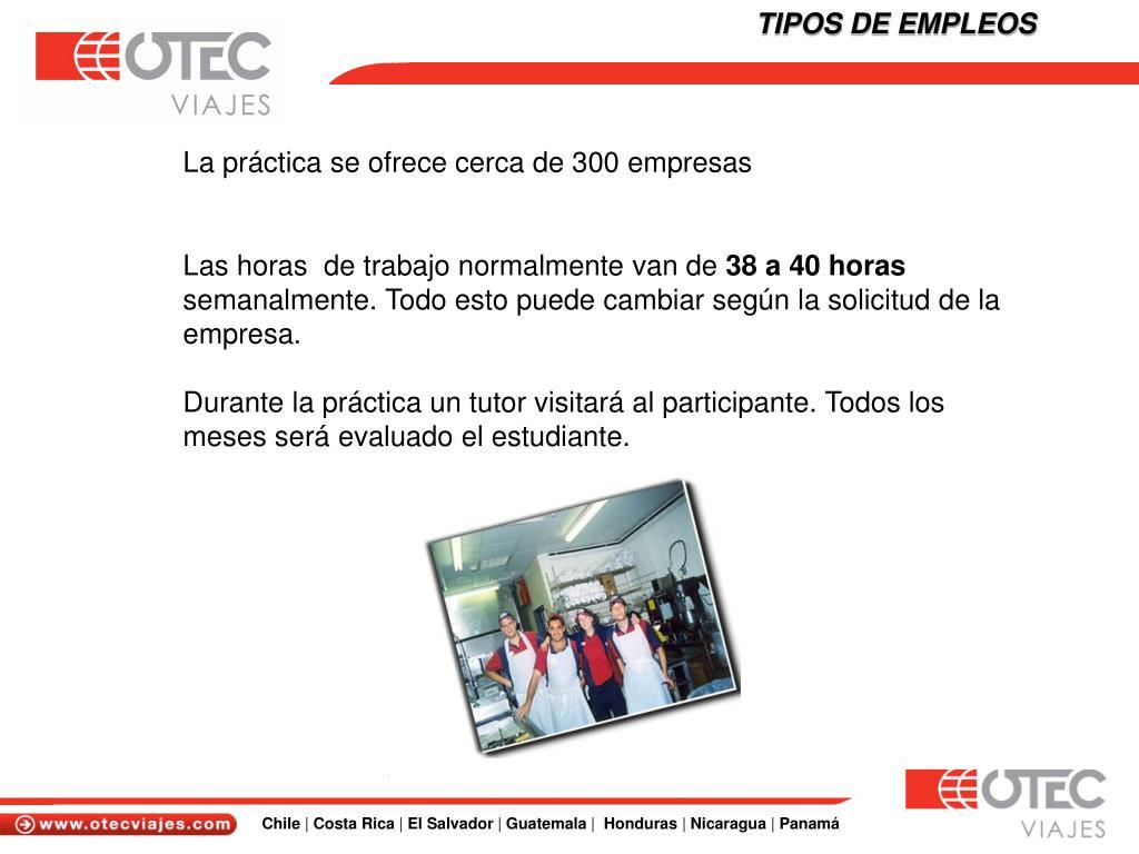 TIPOS DE EMPLEOS
