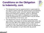 conditions on the obligation to indemnify cont1