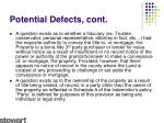 potential defects cont1