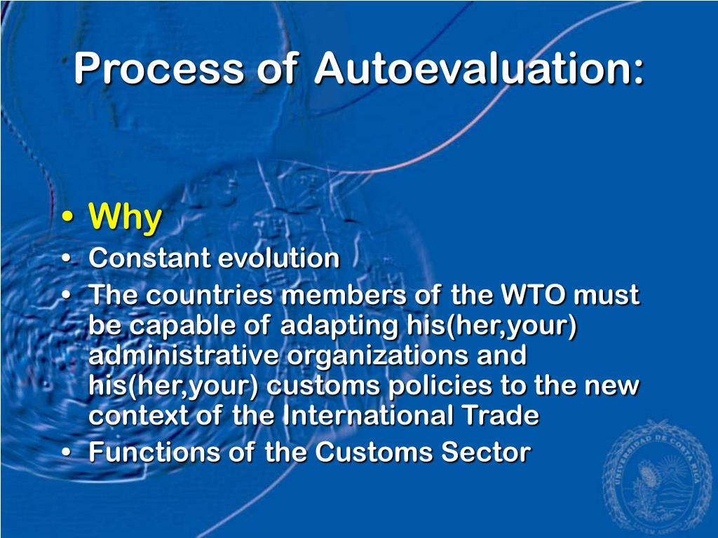 Process of Autoevaluation: