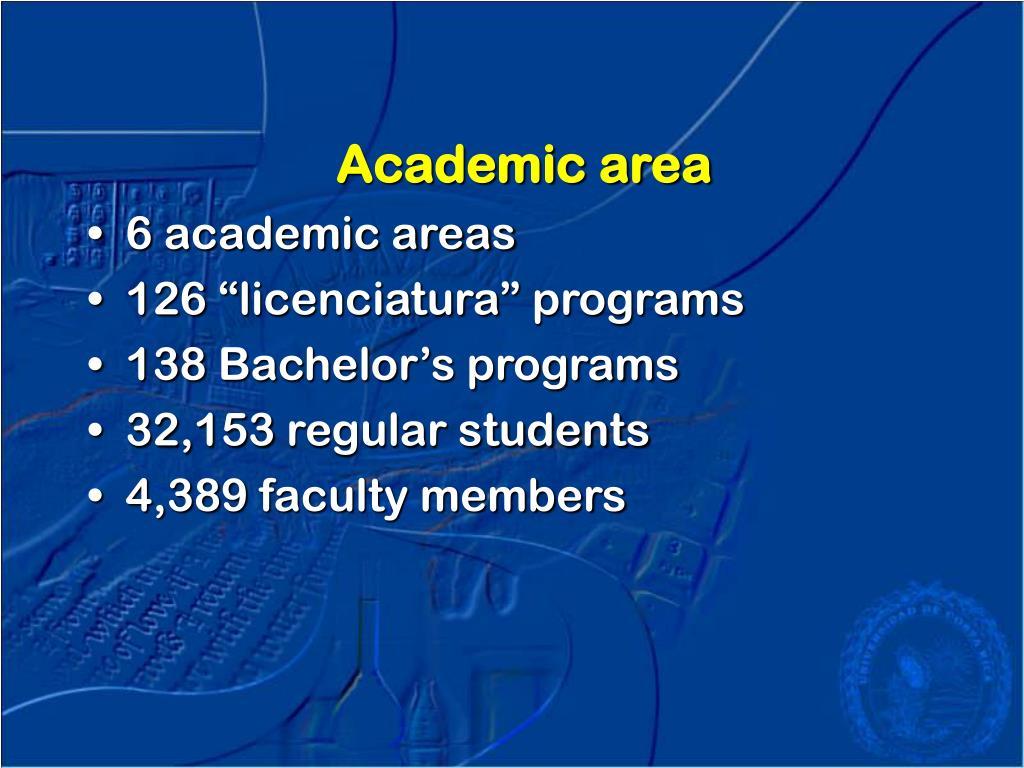 Academic area