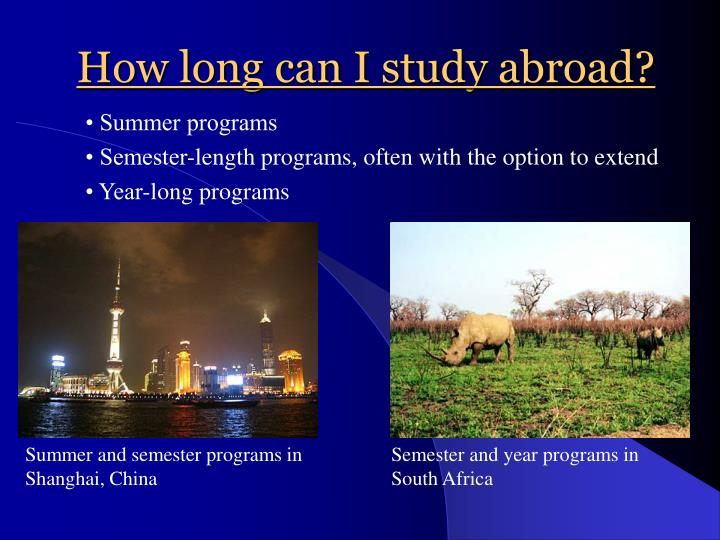 How long can i study abroad