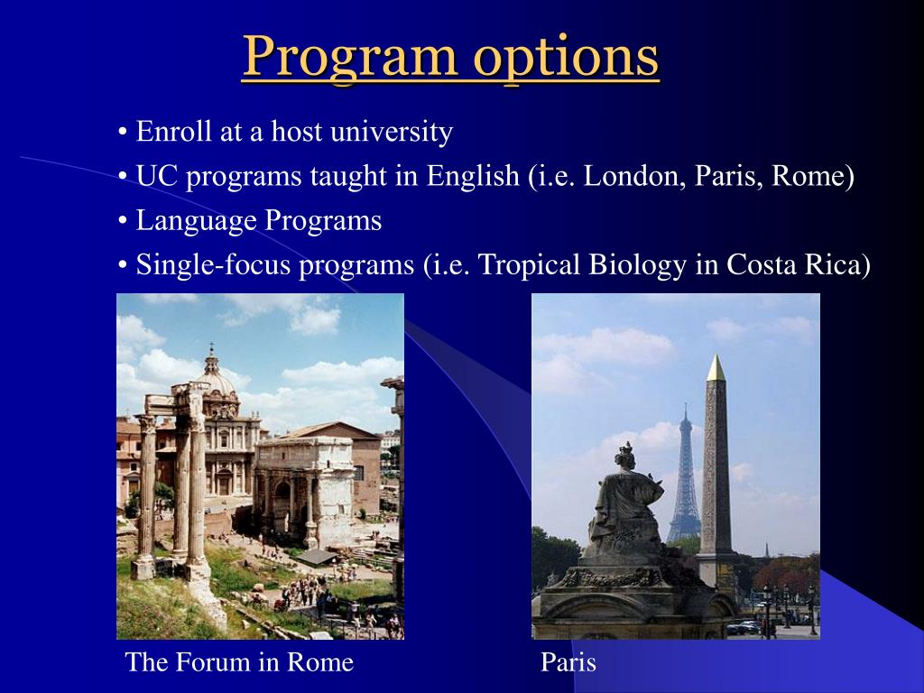 Program options