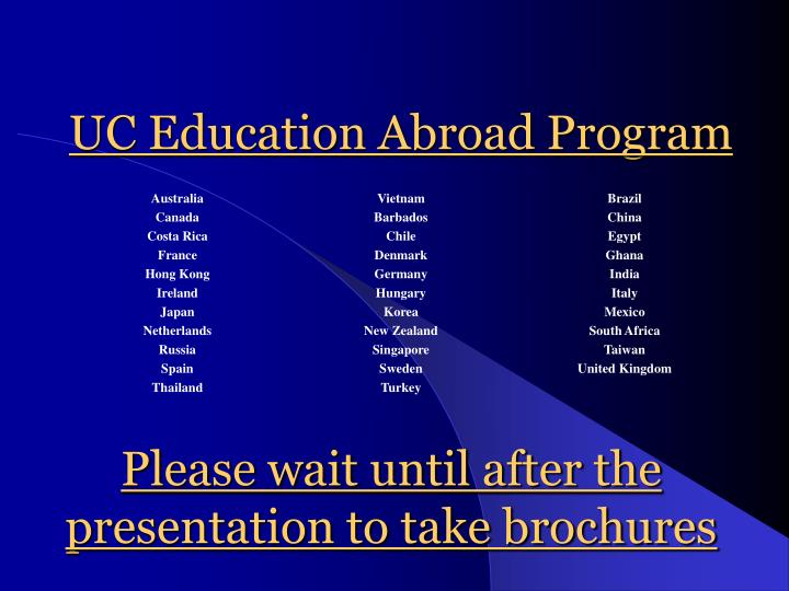 Uc education abroad program