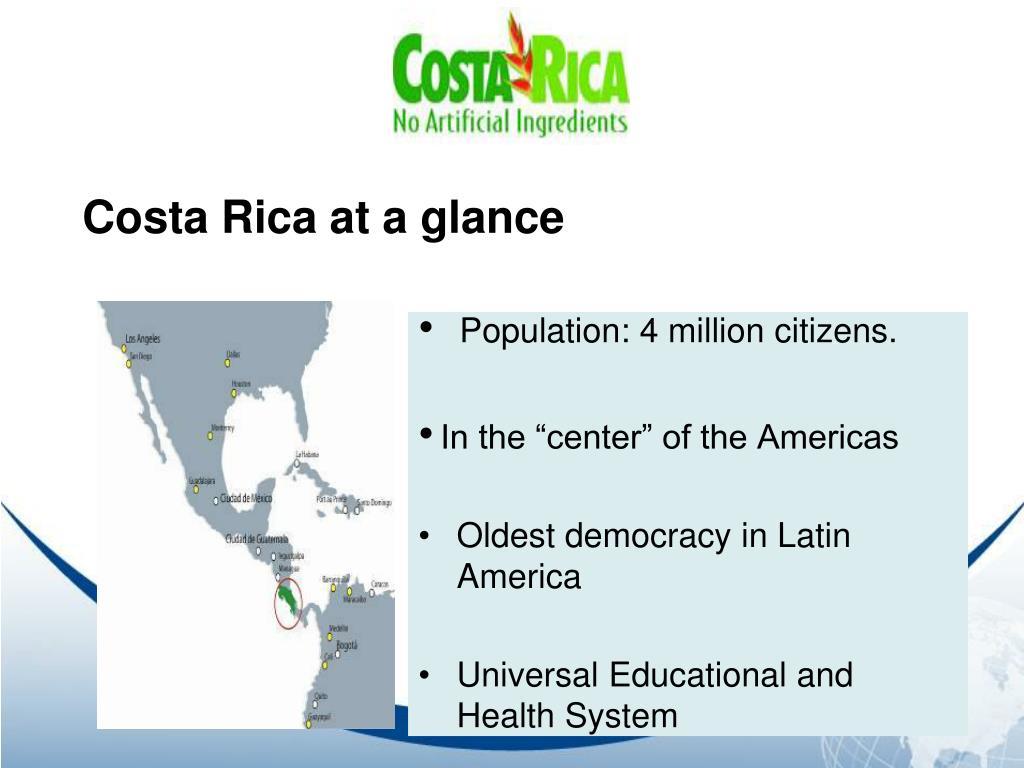 Costa Rica at a glance