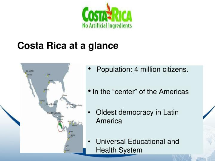 Costa Rica at a glance