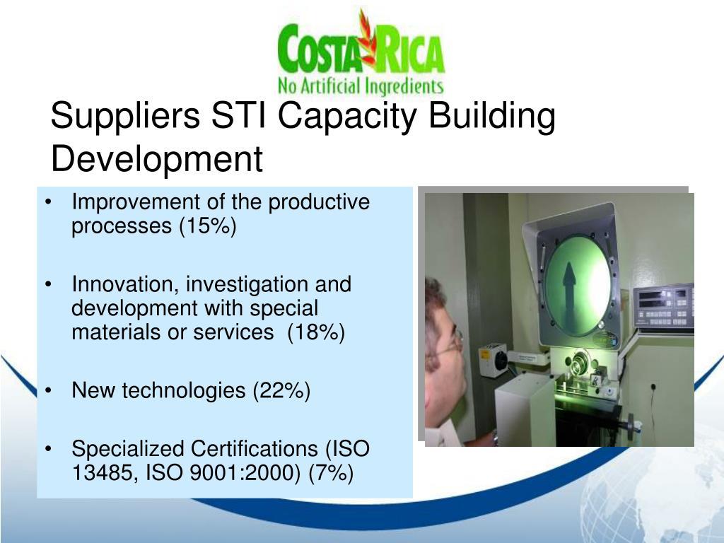 Suppliers STI Capacity Building Development
