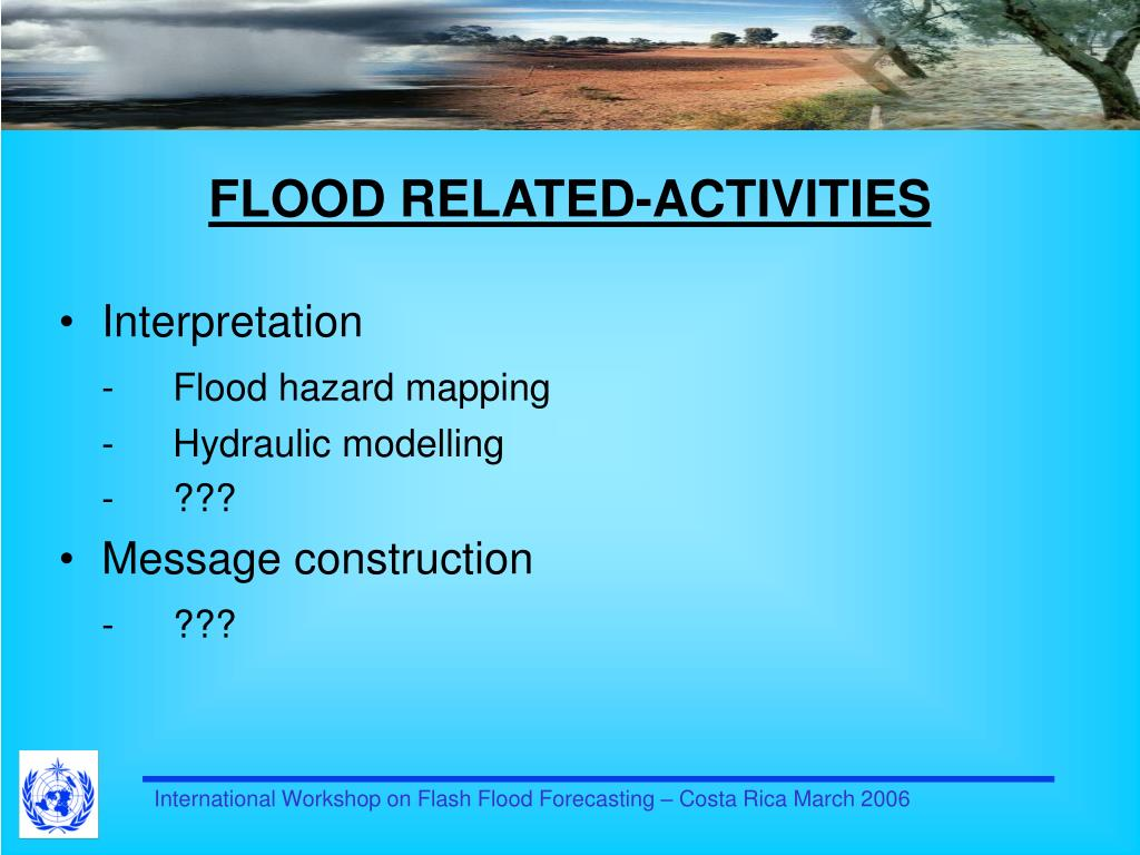 FLOOD RELATED-ACTIVITIES