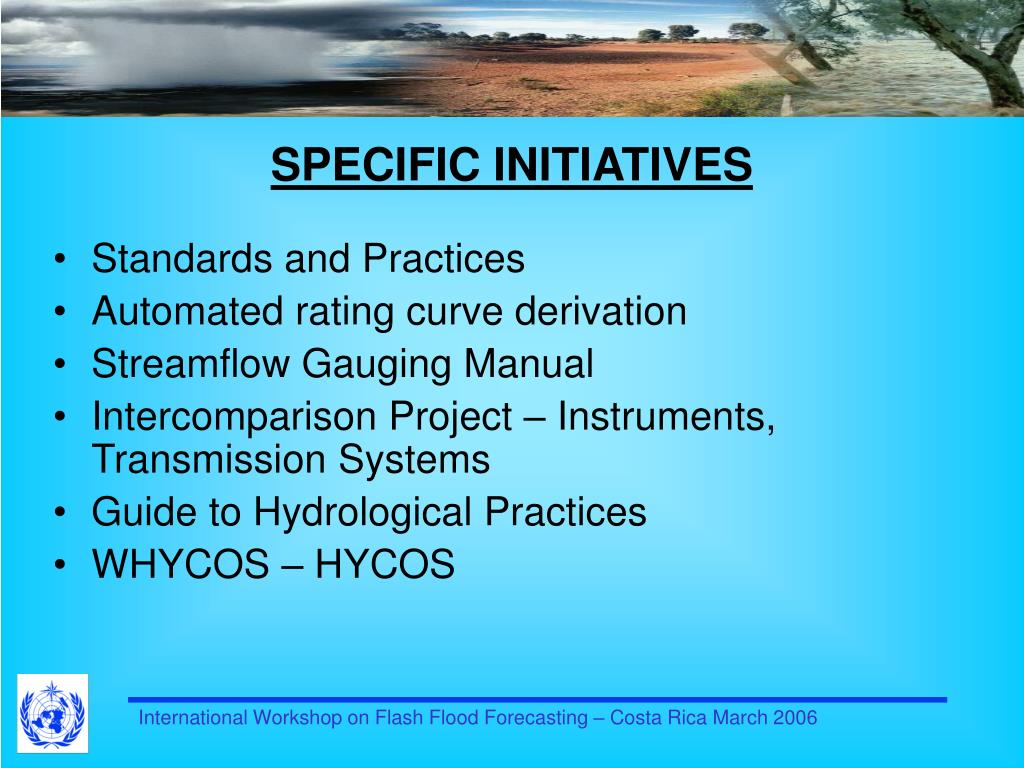 SPECIFIC INITIATIVES