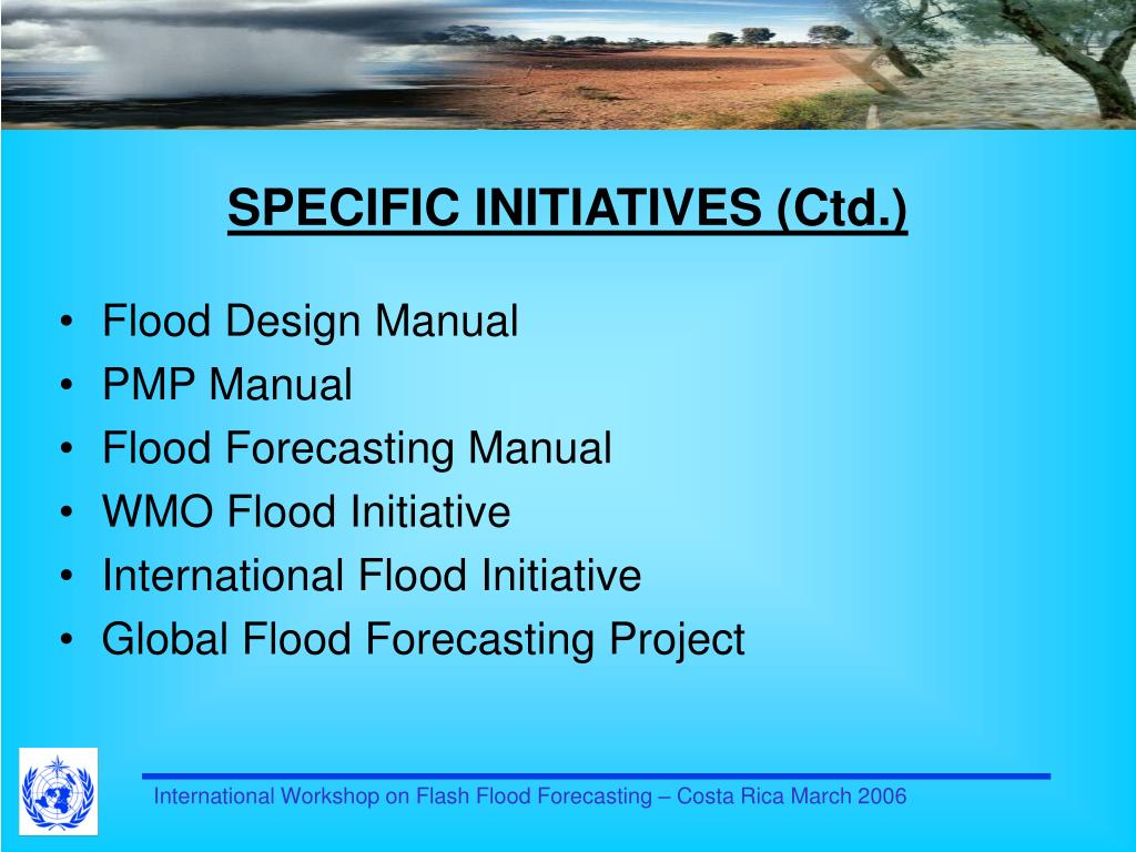 SPECIFIC INITIATIVES (Ctd.)