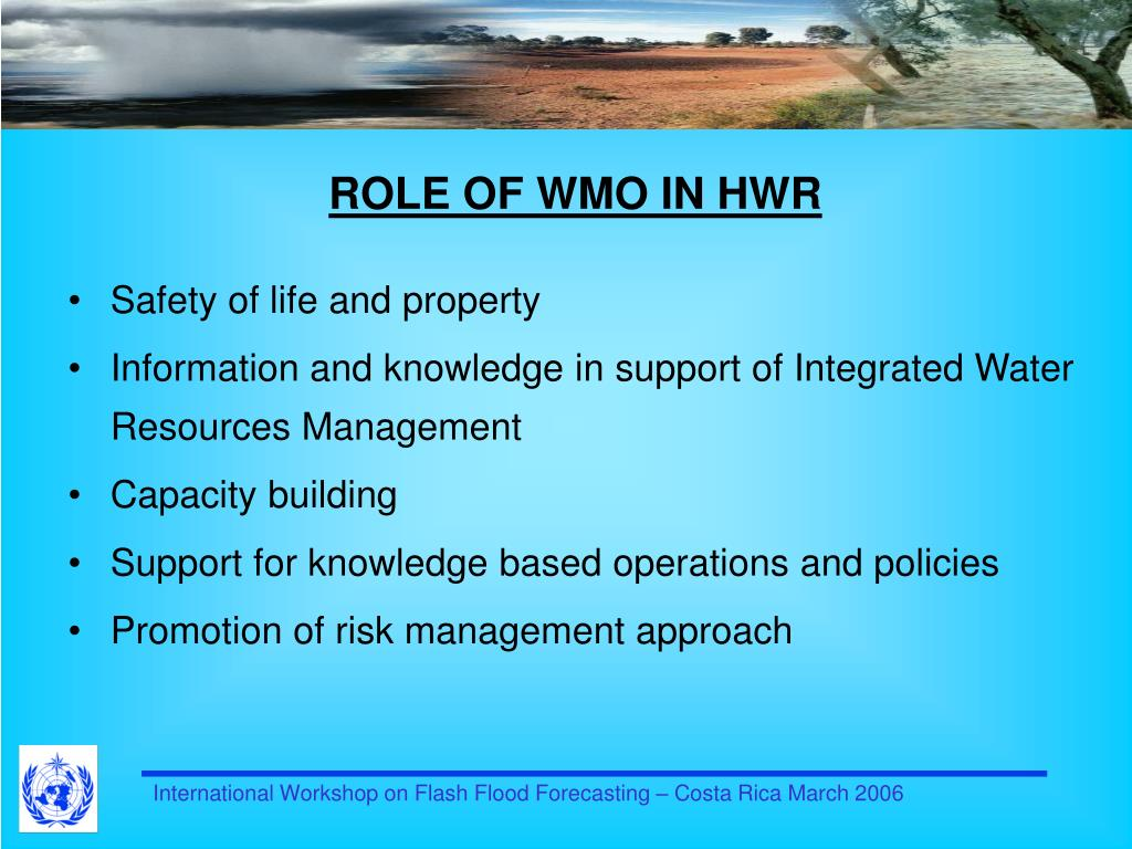 ROLE OF WMO IN HWR