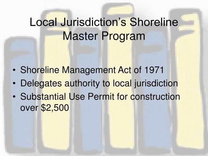 Local Jurisdiction's Shoreline Master Program