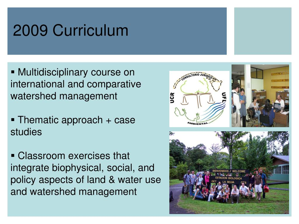 Multidisciplinary course on international and comparative watershed management