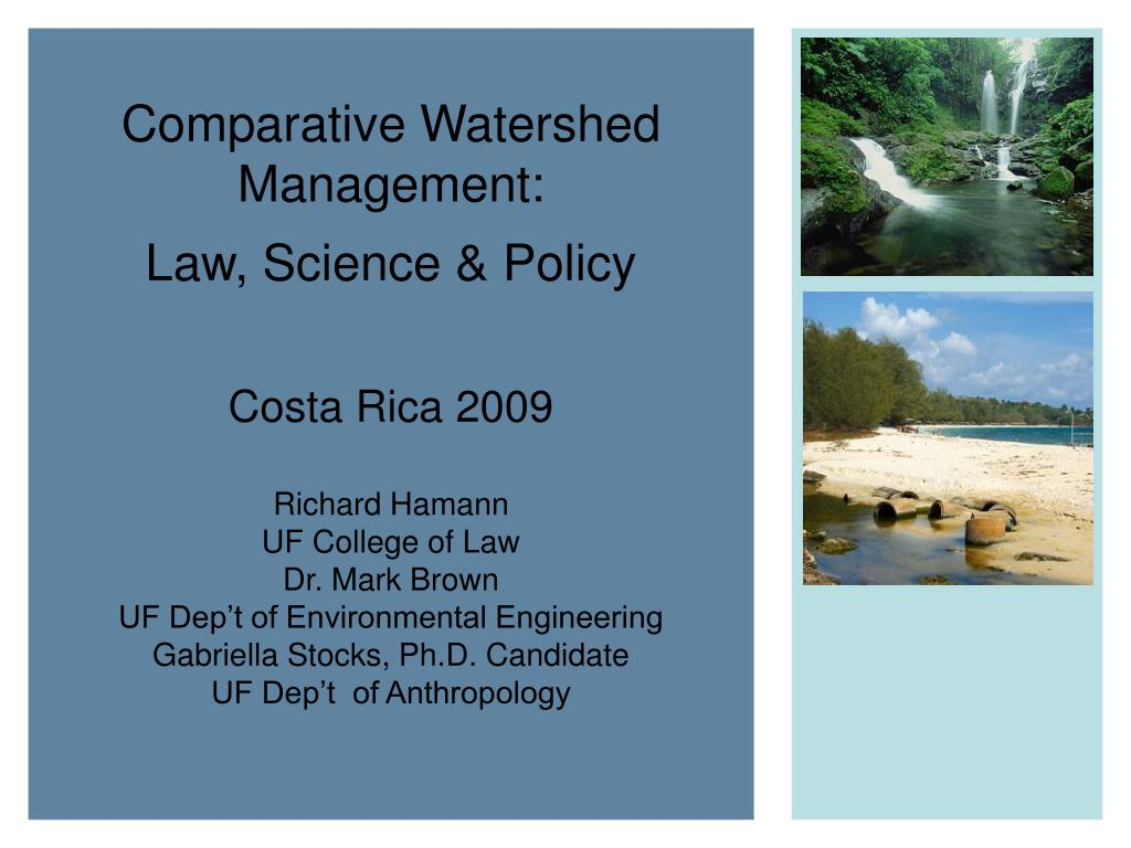 Comparative Watershed Management: