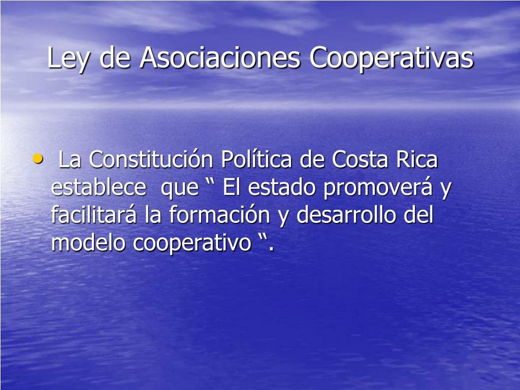 Ley de Asociaciones Cooperativas