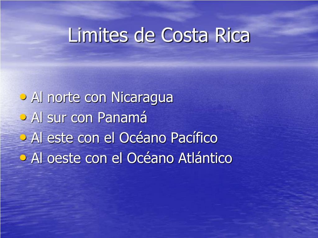 Limites de Costa Rica