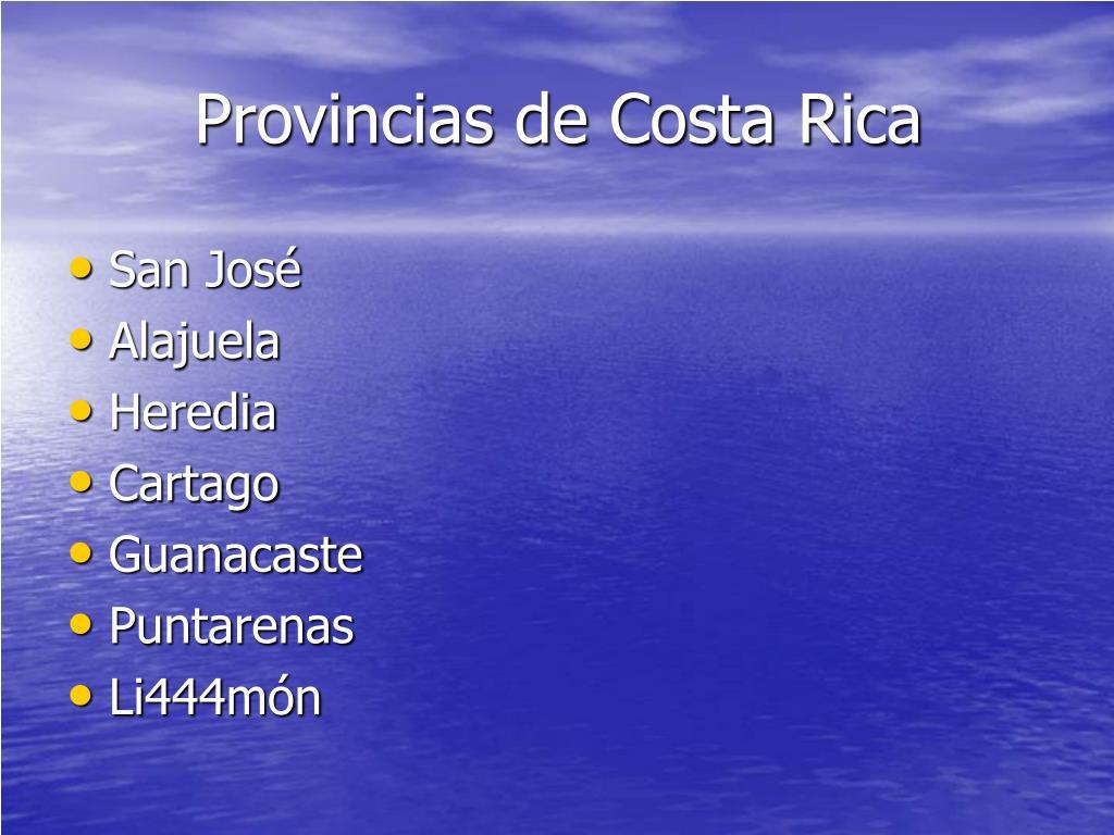 Provincias de Costa Rica