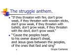 the struggle anthem