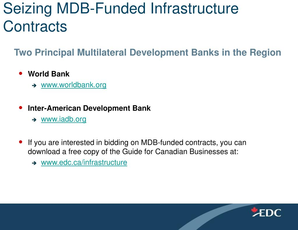 Seizing MDB-Funded Infrastructure Contracts