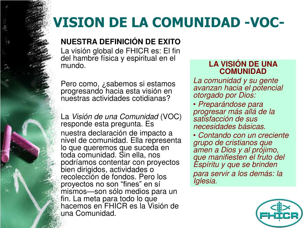 VISION DE LA COMUNIDAD -VOC-