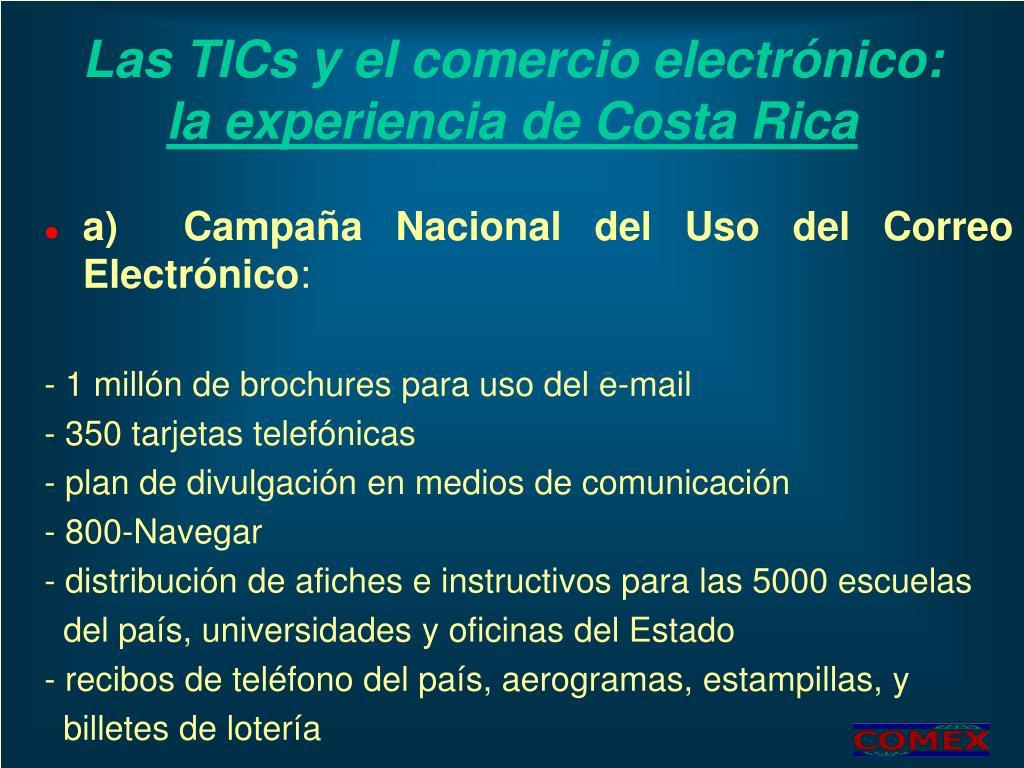 Las TICs y el comercio electrónico: