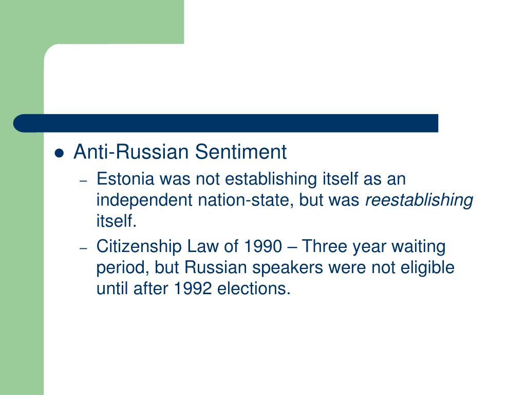 Anti-Russian Sentiment