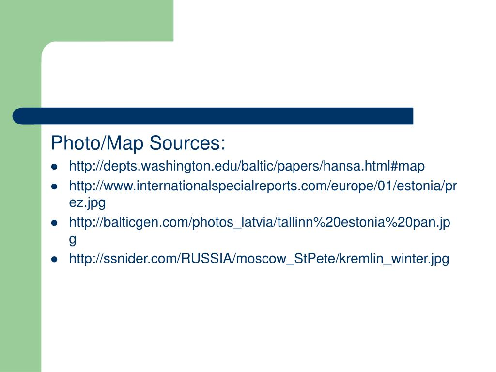 Photo/Map Sources: