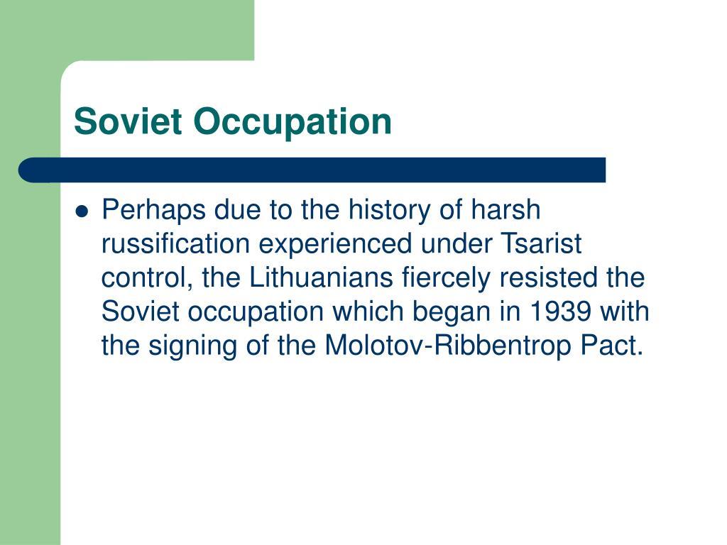 Soviet Occupation