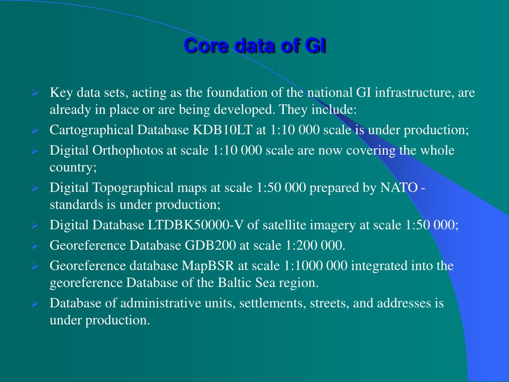 Core data of GI