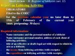 short review ii register of lobbyists art 11