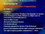 short review ii register of lobbyists