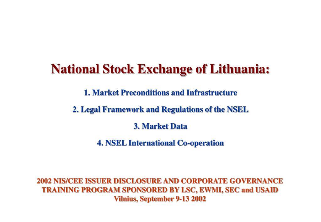 National Stock Exchange of Lithuania: