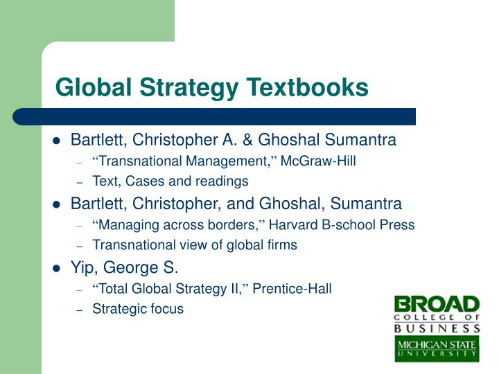 Global Strategy Textbooks