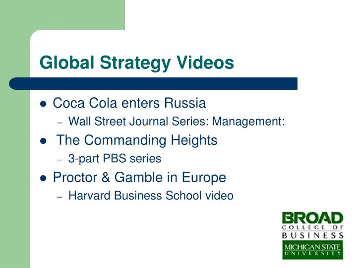 Global Strategy Videos