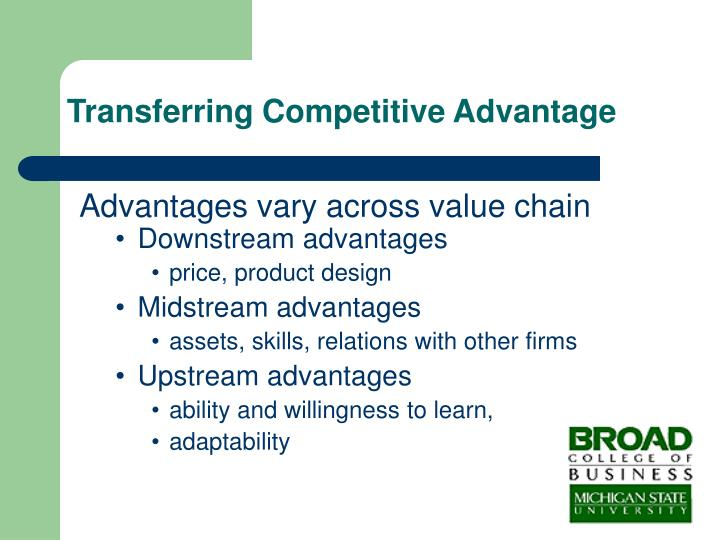 Transferring Competitive Advantage