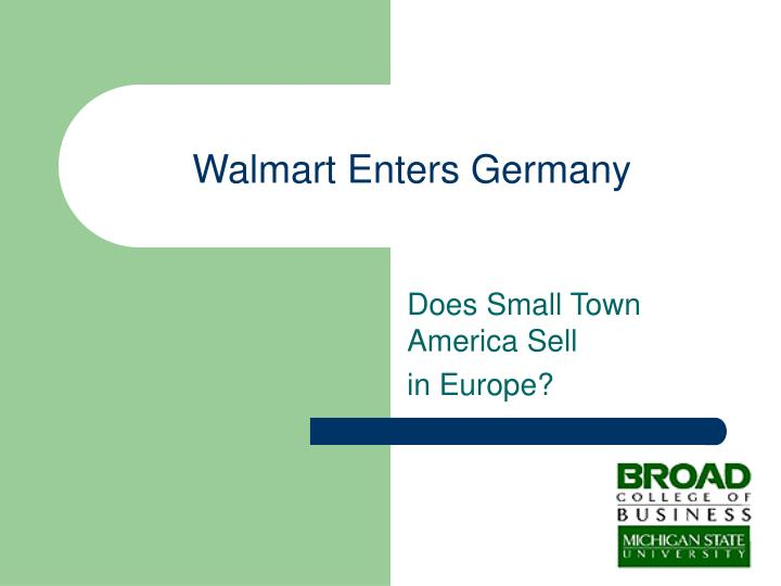 Walmart Enters Germany