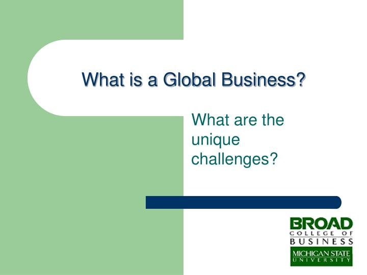 What is a Global Business?