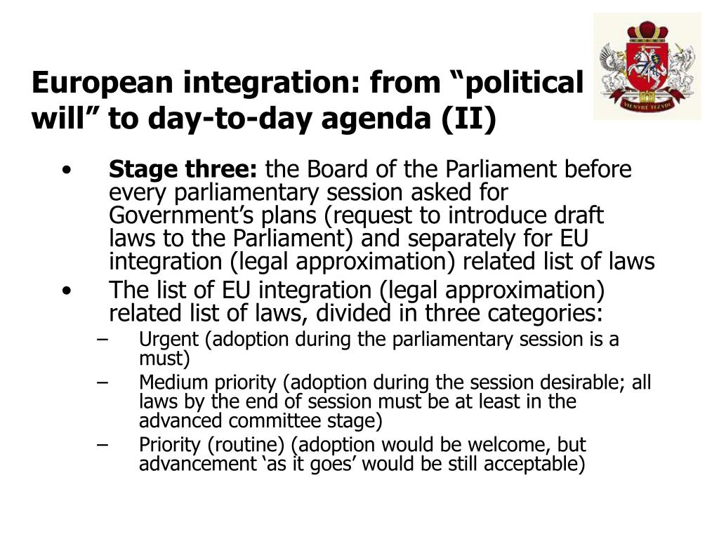 "European integration: from ""political will"" to day-to-day agenda (II)"