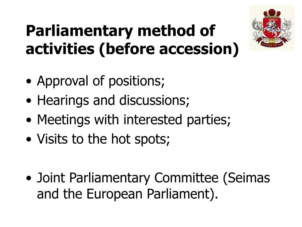 Parliamentary method of activities