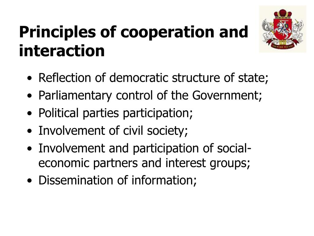 Principles of cooperation and interaction