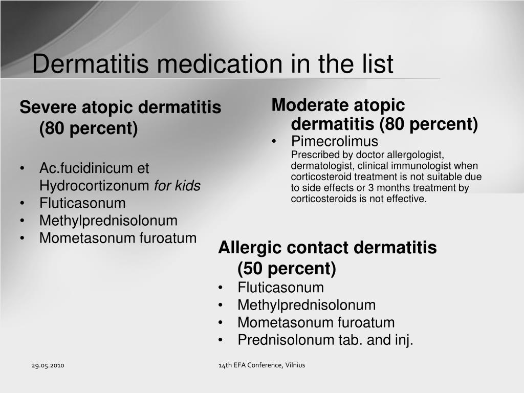 Dermatitis medication in the list