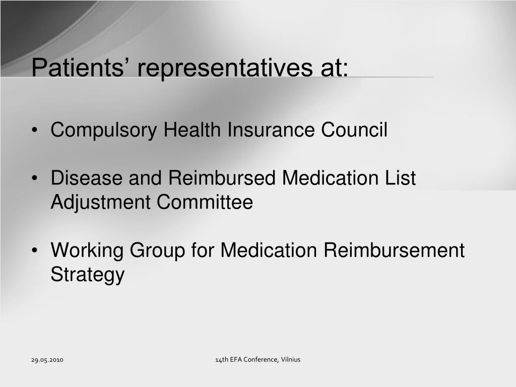 Patients' representatives at: