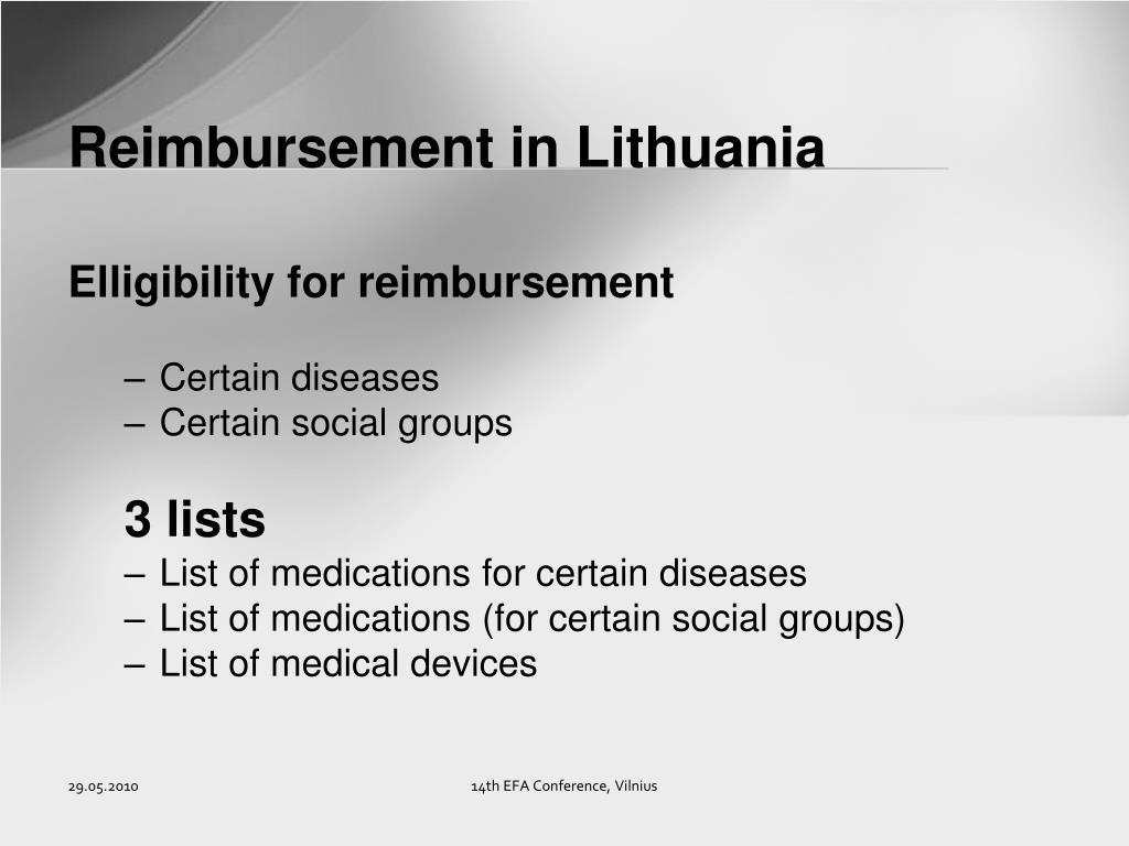 Reimbursement in Lithuania