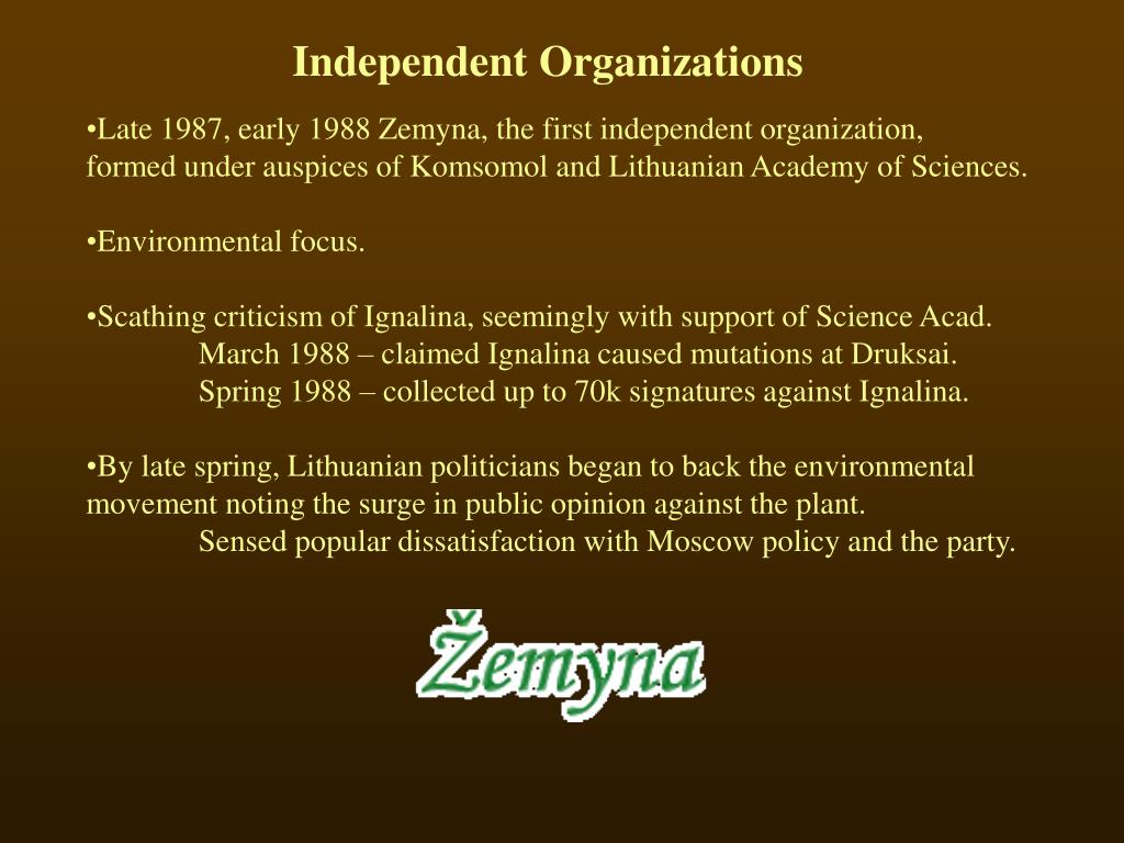 Independent Organizations