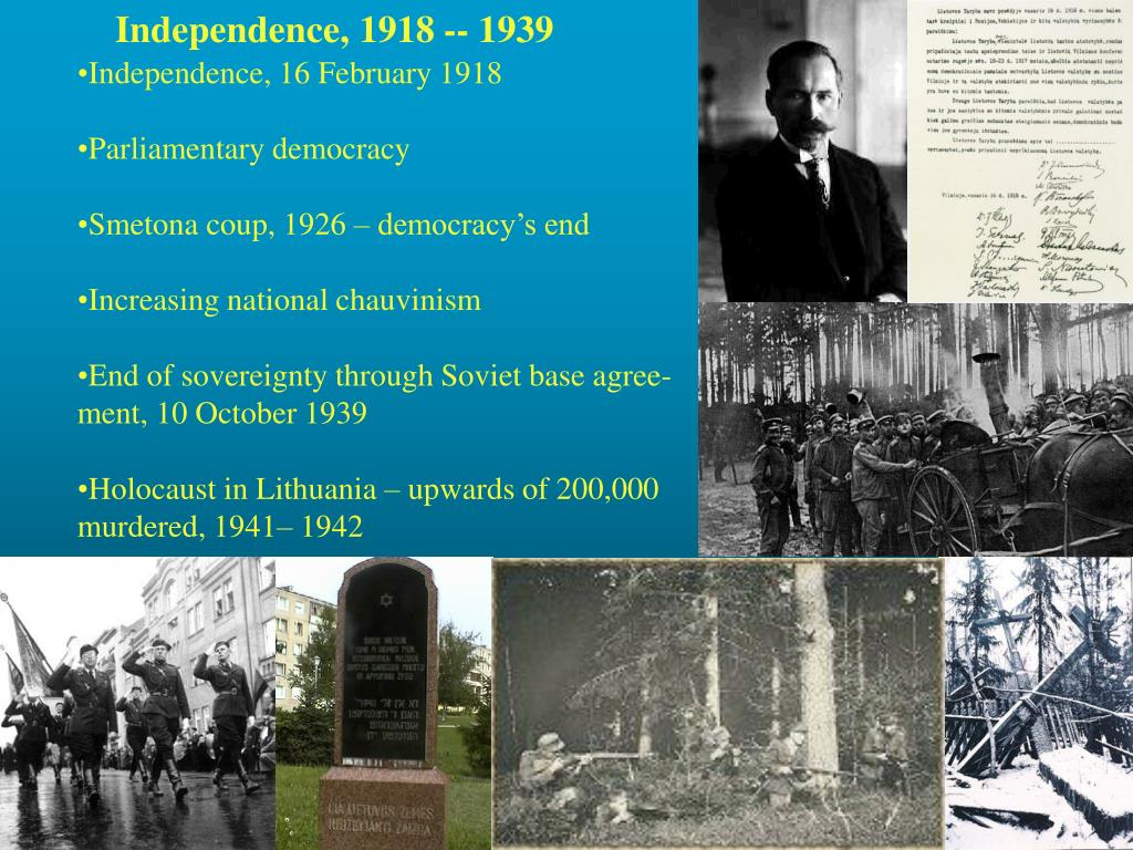Independence, 1918 -- 1939