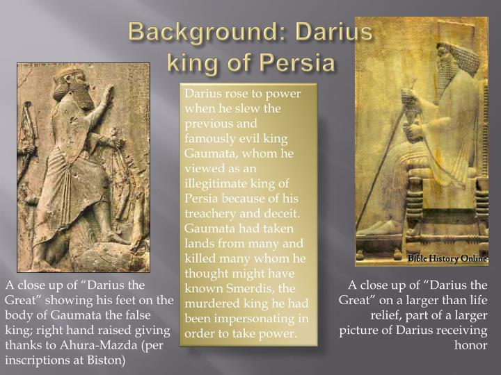 Background darius king of persia