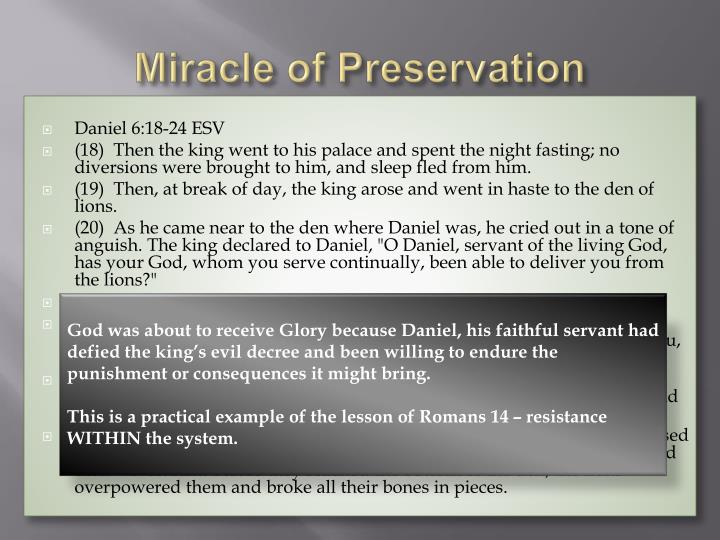 Miracle of Preservation