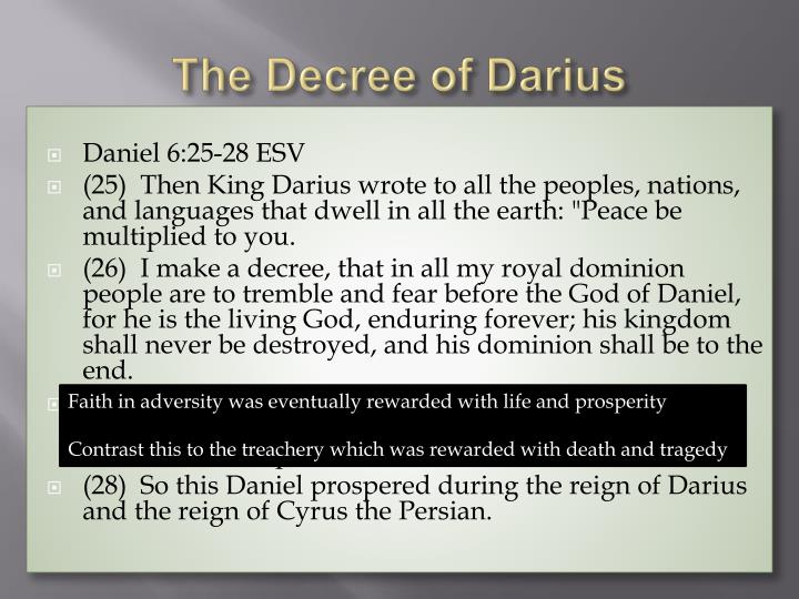 The Decree of Darius