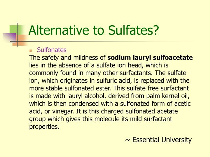 Alternative to sulfates