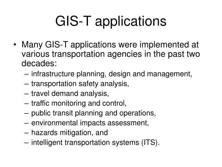 GIS-T applications